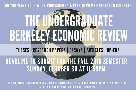 Now Accepting Submissions from All Undergraduates!
